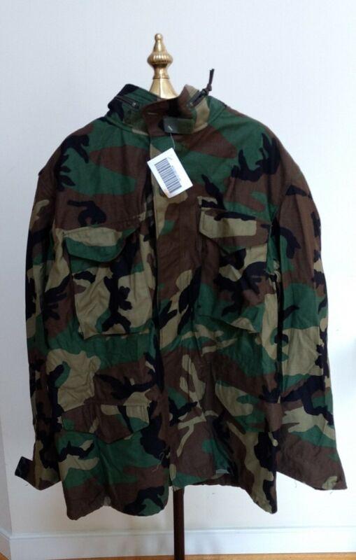 NWT 1999 G.I. Issue M65 Field Jacket Woodland Camo Large Regular