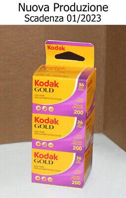 3 x Pellicola 35mm Rullino fotografico Colore Kodak Gold 200 ISO 36 foto - film