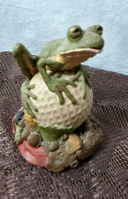 Tim Wolfe Hawthorne Figurine Frog Golf Ball Tom Clark Cairn