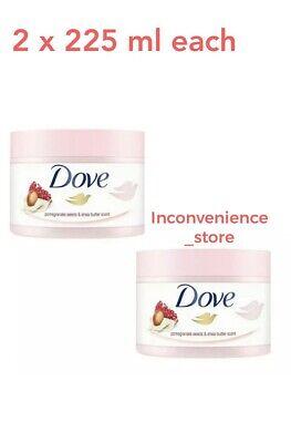2 X Dove Exfoliating Body Scrub Pomegranate Seeds 225ml Each