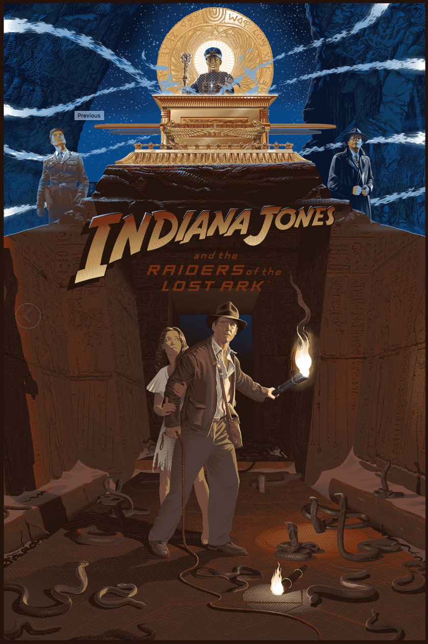 SOLD OUT Indiana Jones Raiders Of Lost Ark Regular Laurent Durieux Global Ship  - $80.00
