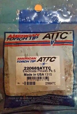 5 American Torch Tip Electrodes 220669attc For Hypertherm Powermax 45 Plasma Cu