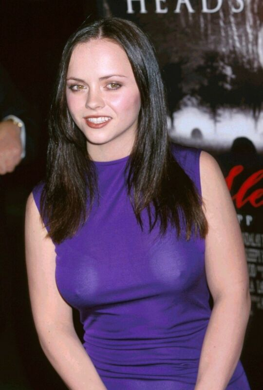 Christina Ricci Posing Violet Dress 8x10 Photo Print