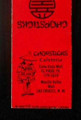 1980s? Chopsticks Cafeteria Mesilla Valley Mall El Paso TX Chinese Las Cruces (El Paso Mall)