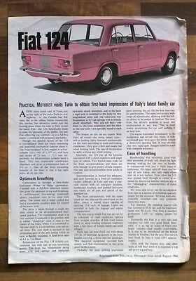 Fiat 124 Vintage 1968 Practical Motorist Review
