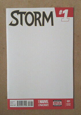 STORM #1 BLANK VARIANT COVER FIRST PRINT MARVEL COMICS (2014) X-MEN