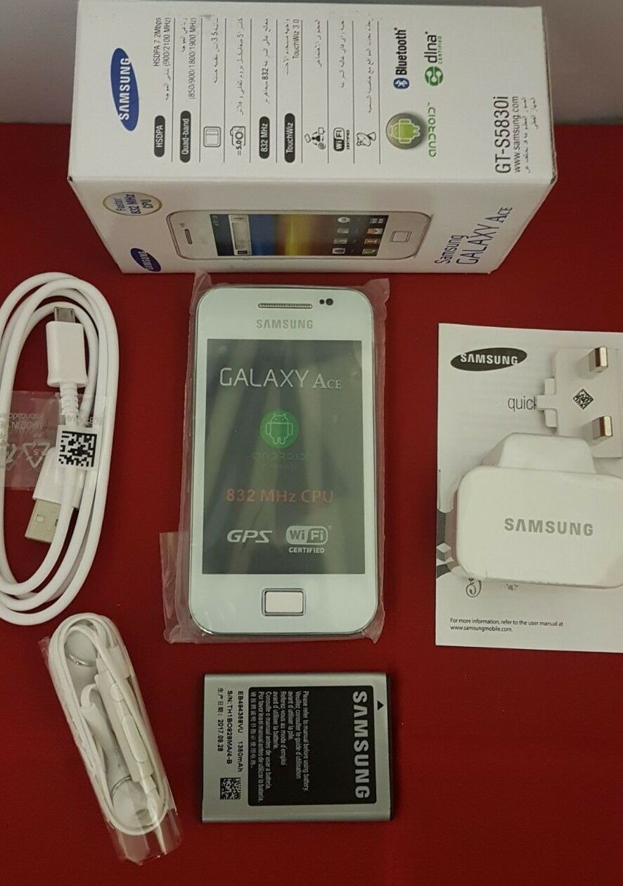 Android Phone - Samsung GALAXY Ace GT-S5830i (Unlocked) Smartphone Android Phone- WHITE UK