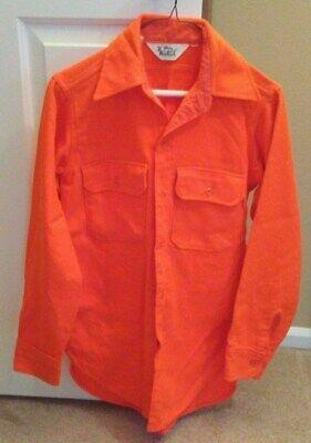 16a044bf18282 Woolrich 100% Acrylic Blaze Orange Shirt - Size Small - Long Sleeve - 2  Pockets
