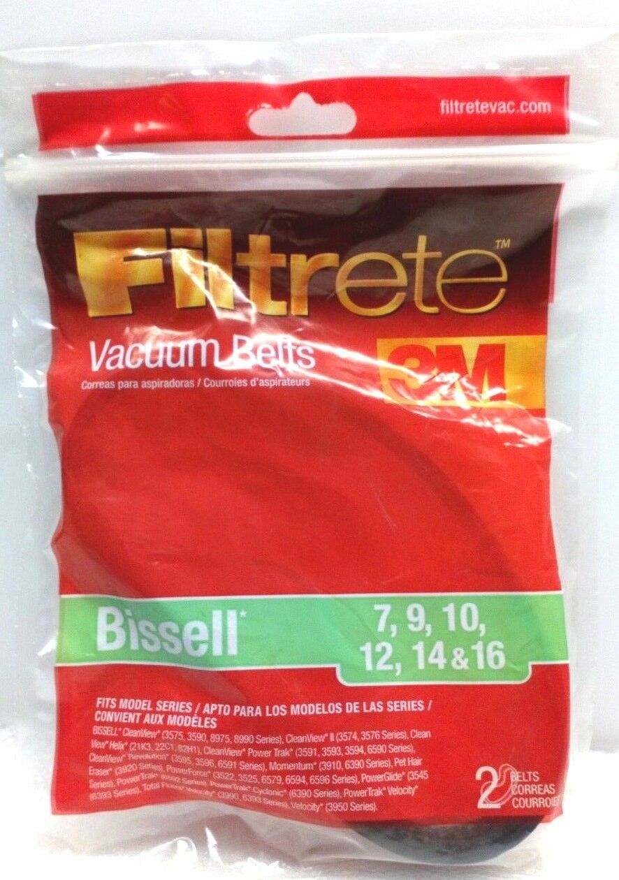 Filtrete Bissell 7, 9, 10, 12, and 14 Belt, 2 Belts Per Pack