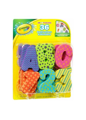 Crayola Bath Letters & Numbers, 36 Learning In The Tub Water