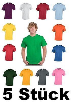Xl Stück (5 Stück GILDAN Heavy Cotton T-Shirt Herren Shirt S - 3XL versch. Farben)