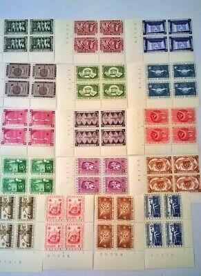 BELGIUM SC 516-525 & C15-20 UN Spec Issue Corner Blocks Rare LotB