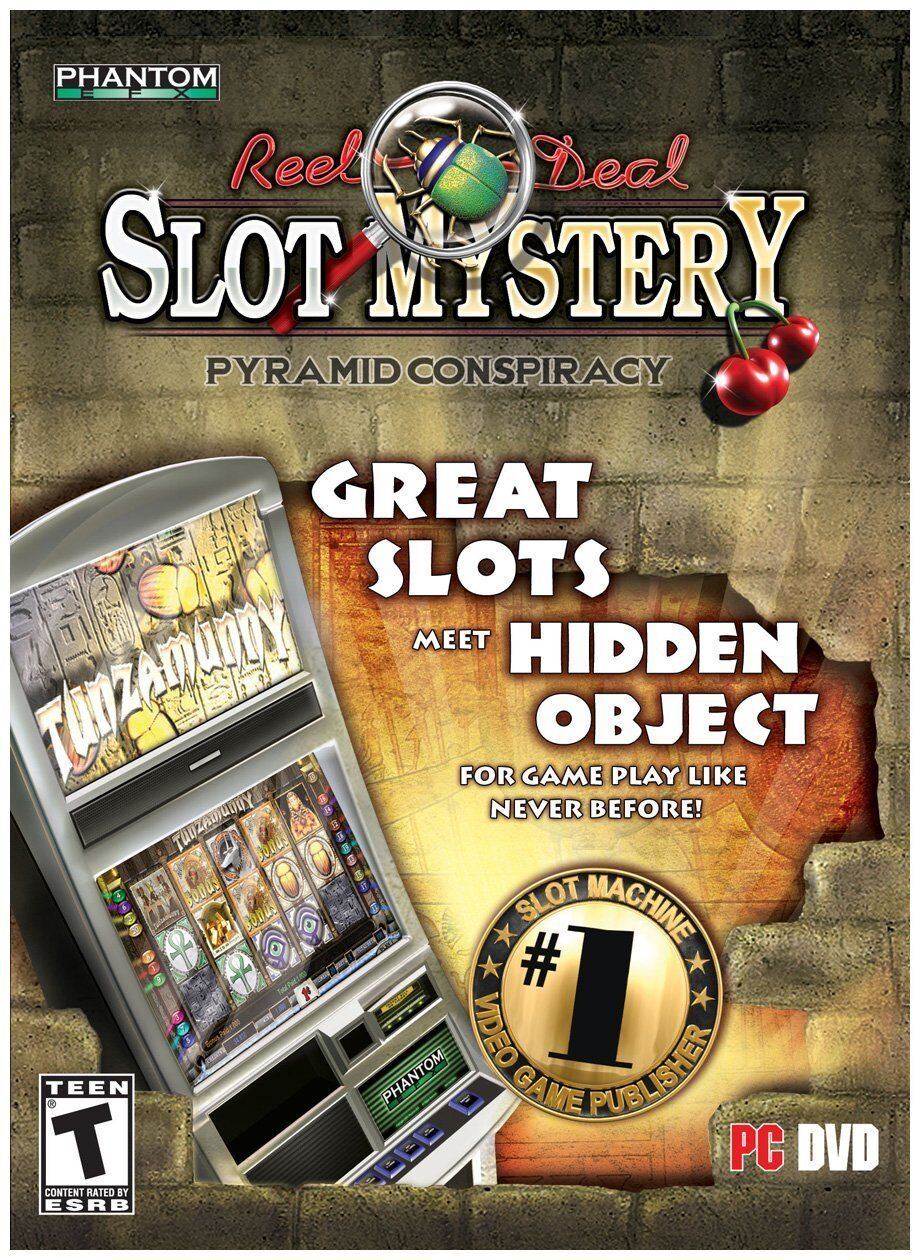 Computer Games - Reel Deal Slot Mystery Pyramid Conspiracy PC Games Window 10 8 7 XP Computer NEW