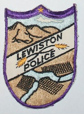 Very Old LEWUSTON POLICE Idaho ID PD Used Worn Vintage patch