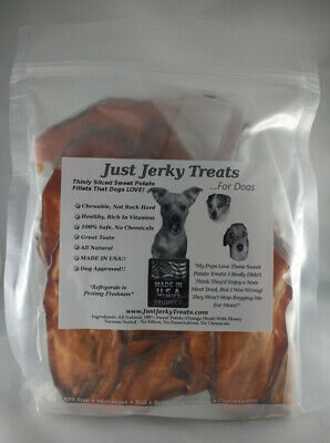 Homemade Dog Treats -  Sweet Potato Jerky, MADE IN USA, Natural, No Chemicals!!