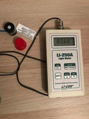 Li-cor Li-250a Light Meter And Li-190sa Quantum Sensor