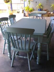Dining table and chairs Sunbury Hume Area Preview