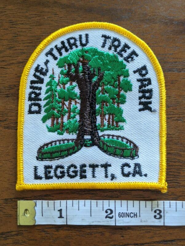 Drive-Thru Tree Park Leggett Ca. California Redwood Souvenir Embroidered Patch