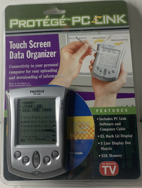 Protege PC Link Touch Screen Data Organizer 32K Memory ( NEW )