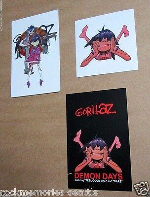 Gorillaz Lot Promo Sticker and Promo Postcards