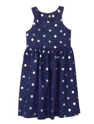 NWT GYMBOREE Girls Dressed Up Navy POLka Dot Easter WEDDING DRESS Size 4
