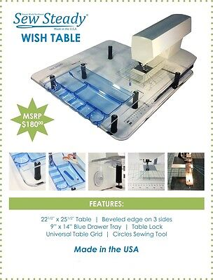 Sew Steady Wish Extension Table for BABYLOCK DESTI