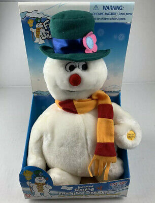 New Gemmy Vintage Frosty the Snowman Singing Animated Plush 13 Inches NRFP