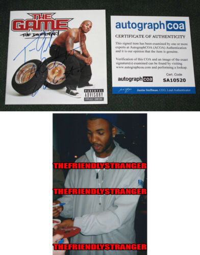 """Rapper THE GAME signed """"THE DOCUMENTARY"""" CD BOOKLET - PROOF Jayceon Taylor ACOA"""