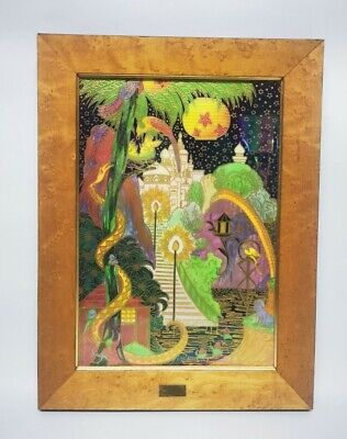 Wedgwood Fairyland Lustre Elves Imps Enchanted Palace Plaque Daisy Makeig-Jones