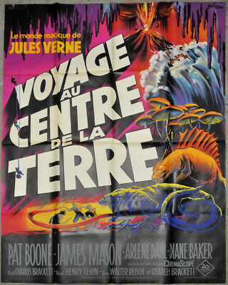 JOURNEY TO THE CENTER OF THE EARTH R/1960'S ORIG 46X63 MOVIE POSTER JULES (Journey To The Center Of The Earth 1960)