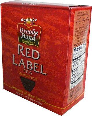 450g Tea - BROOKE BOND RED Label Indian TEA CHAI Mix Loose Leaf Powder ASSAM 450g