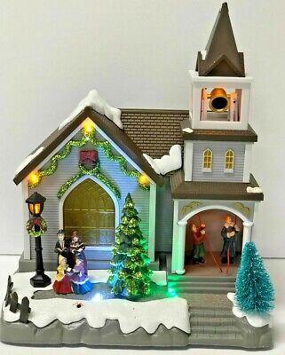 Animated LED Musical Christmas Village Church