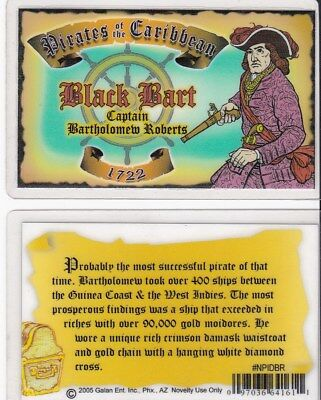 Pirates of the Caribbean BLACK BART Drivers License - - fun fake i.d. card