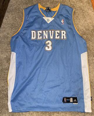 Vintage Allen Iverson 44 Denver Nuggets adidas NBA Jersey Size 60 2006 2007