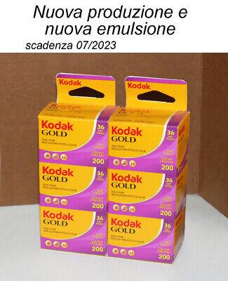 6 x Pellicola 35mm Rullino fotografico Colore Kodak Gold 200 ISO 36 foto - film