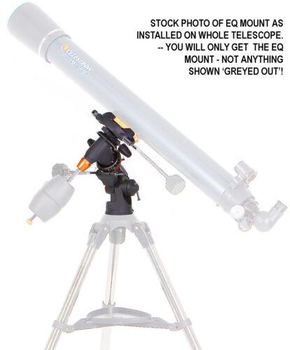 CELESTRON 21064 Astromaster 90 EQ Refractor TELESCOPE EQ MOUNT ONLY