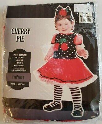 Costume Baby Cherry Pie Piece Infant 12-24 Months - Cherry Baby Kostüm