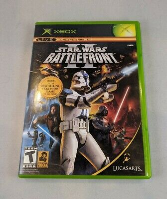 Star Wars: Battlefront II 2 (Xbox, 2005, Original) CIB Complete All insert Works