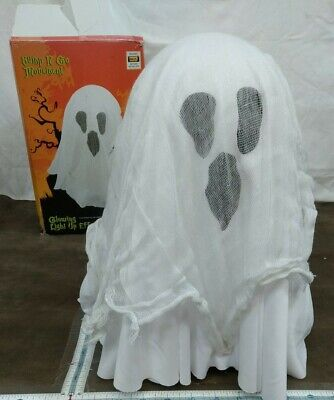 Animated Bump-N-Go Ghost Moves and Moans Glowing Light Up w/box 2014 Halloween