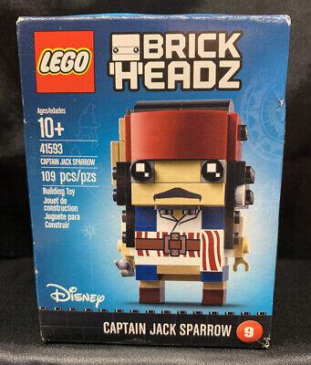 New LEGO Disney Brick Headz 41593 Captain Jack Sparrow Sealed NIB
