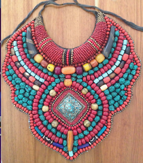 Beaded handmade traditional NEPALESE NECKLACE