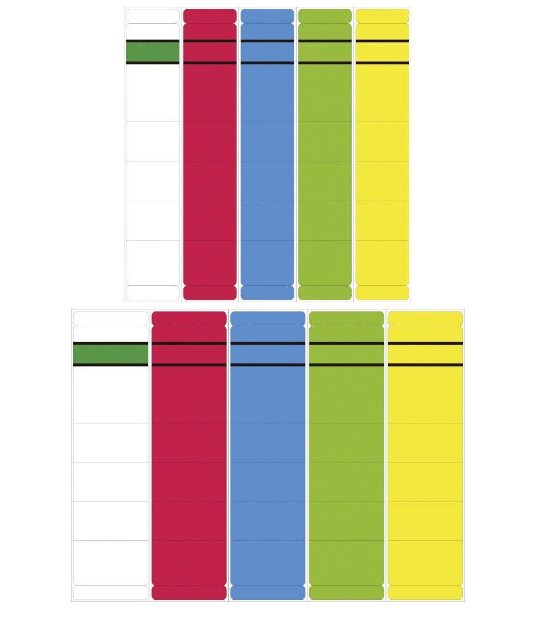 Ordner Rückenschilder Etiketten breit / schmal, kurz selbstklebend Farbe wählbar