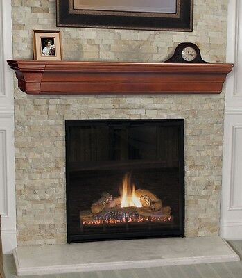 Pearl Mantel Lindon mission fireplace mantel or TV shelf. Pi