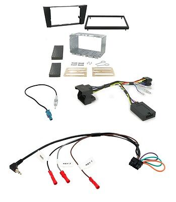 Mercedes W211 E Class 02-09 Complete Double Din Stereo Fitting Kit CTKMB06