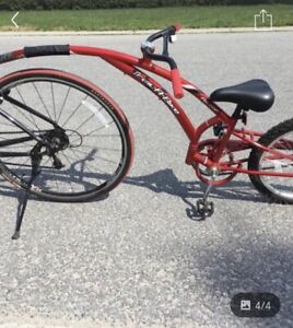 Tandem bike attachment age 4+. Excellent condition