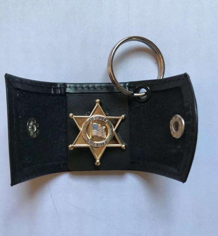 MINI CASE KEY FOB  - SNAP CLOSURE- UNIVERSALl  FIT Deputy Sheriff