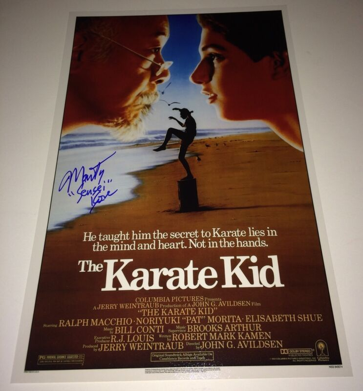 MARTIN KOVE Hand Signed KARATE KID 11 X 17 In Person Autograph PROOF Cobra Kai
