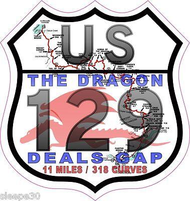Home Decoration - Deals Gap The Dragon US 129 Vinyl Sticker Decal