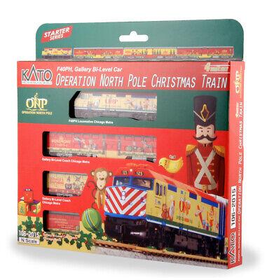 Kato 106-2015-DCC N Operation North Pole 2015 Christmas Train w/ DCC (Set of 4)