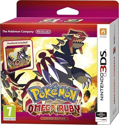 Brand New Pokemon Omega Ruby for Nintendo 3DS (Limited Edition) with Steelbook